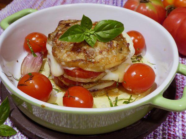 Albergínia amb tomàquet i formatge