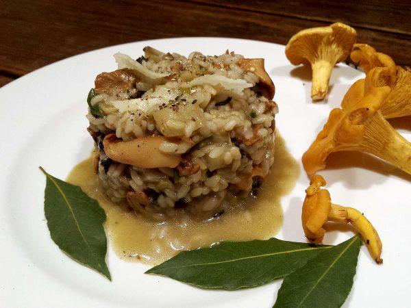 Risotto de setas y pistachos