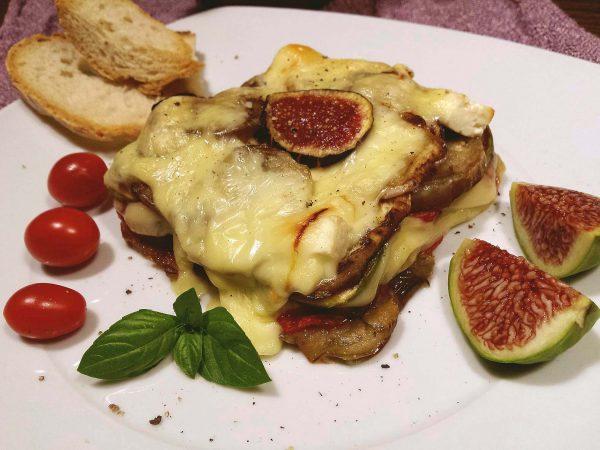 Milfulls d'albergínia, figues i formatge