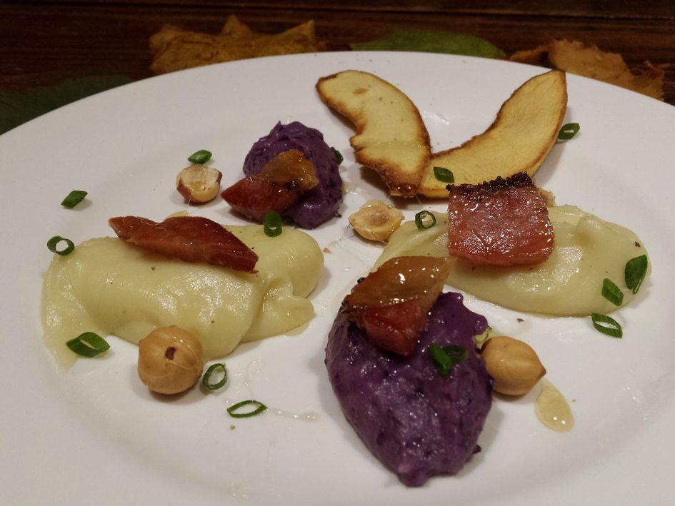 Cremós i cruixent de patata amb cansalada