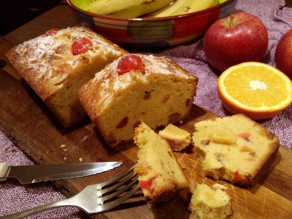 Plum cake de fruites confitades