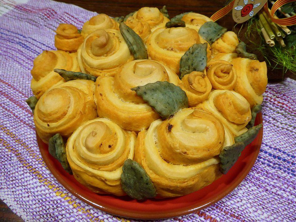 Pan de rosas de sobrasada