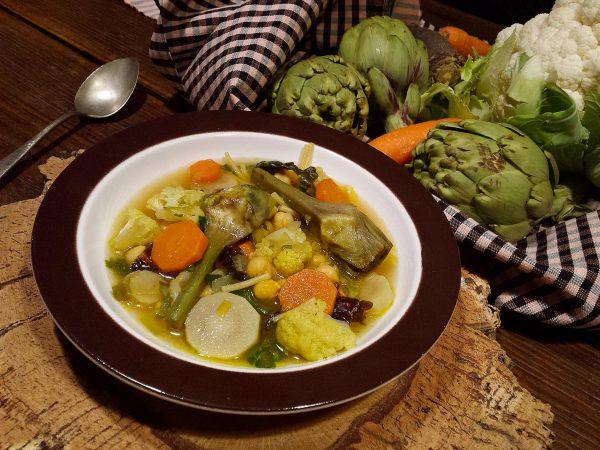 Cigrons i verdures al curri