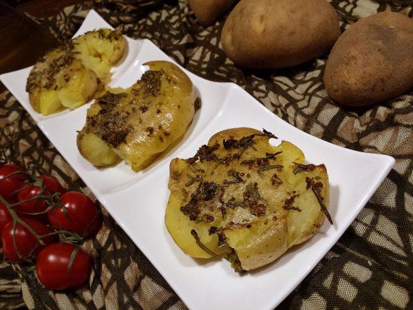 patatas aplastadas
